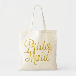 Bridesmaid Gold Tote Bag