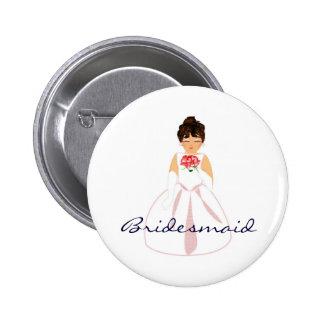 Bridesmaid I Button - Customizable Button