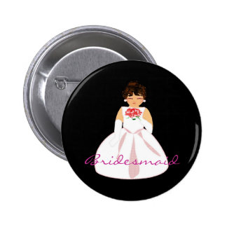 Bridesmaid III Button - Customizable Pins