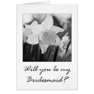 bridesmaid invitation daffodil black & white