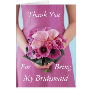 Bridesmaid Kit Poem Card