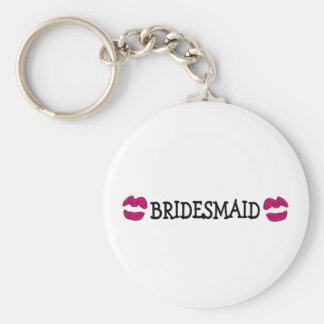 Bridesmaid (Lips Kiss) Keychain