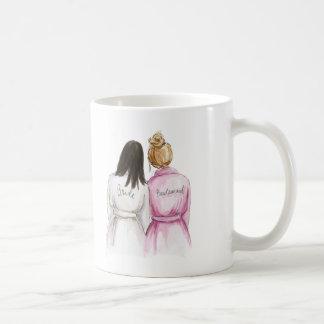 Bridesmaid? Long Dk Br Bride Dk Br Bun Maid Classic White Coffee Mug