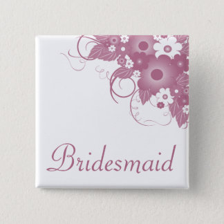Bridesmaid Mauve Bouquet Button