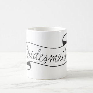 Bridesmaid Mug Banner Script Black