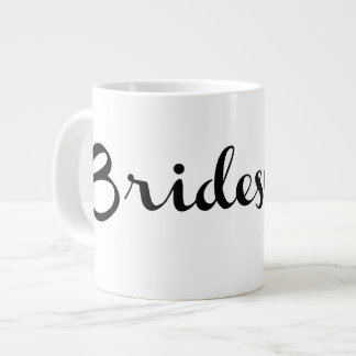 Bridesmaid Mug Black On White Jumbo Mug