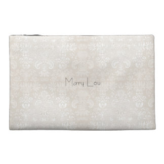 Bridesmaid_Name_Wedding-Favor-Damask*Sueded_Bag Travel Accessory Bags