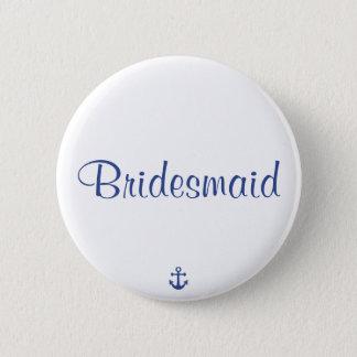 Bridesmaid Nautical Wedding Buttons
