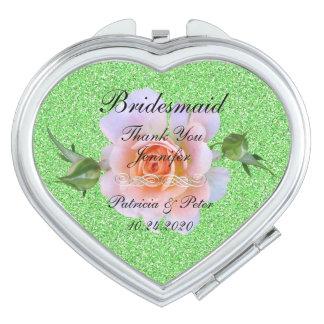Bridesmaid Personalized Glitter Vanity Mirror