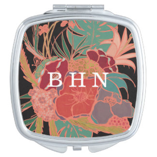 Bridesmaid Personalized Monogrammed Compact Mirror