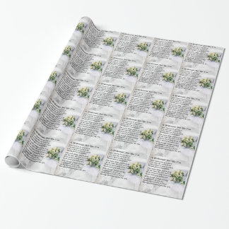 Bridesmaid Poem Wedding Bouquet Wrapping Paper
