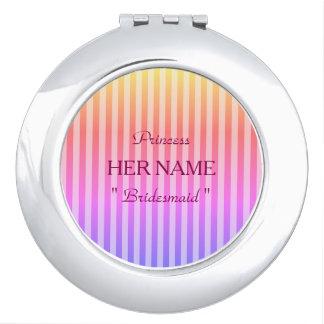 Bridesmaid-Princess-Template-Stripes-Favors_ Travel Mirror
