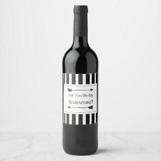 Bridesmaid Proposal Gift Wine Label