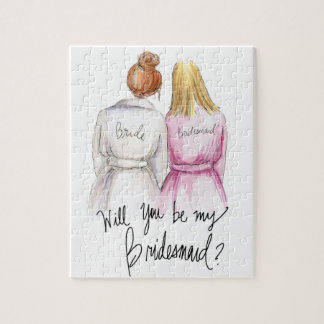 Bridesmaid? Puzzle Red Bun Bride Bl Long Maid