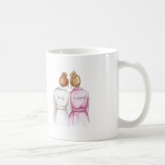 Bridesmaid? Red Bun Bride Dk Bl Bun Maid Classic White Coffee Mug