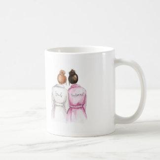 Bridesmaid? Red Bun Bride Dk Br Bun Maid Classic White Coffee Mug
