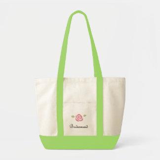 Bridesmaid Rose Tote Bag