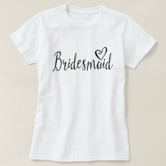 Bridesmaid T-shirt for hen night