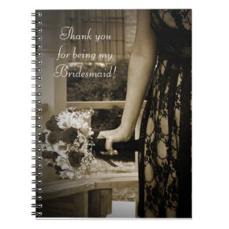 Bridesmaid Thank You Gift Notebooks