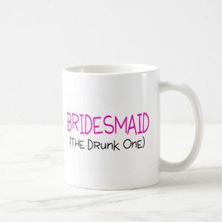 Bridesmaid The Drunk One Classic White Coffee Mug