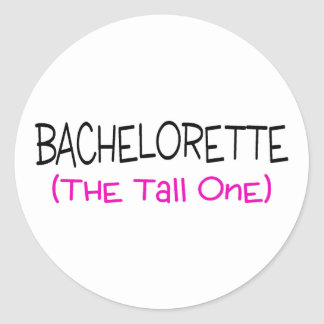 Bridesmaid The Tall One Round Sticker