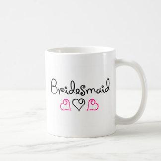 Bridesmaid Three Hearts Coffee Mug