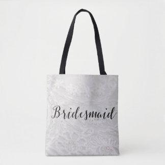 Bridesmaid Tote Bag Lace Canvas