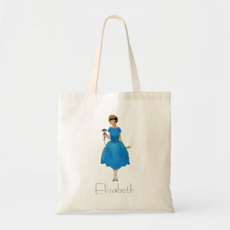 Bridesmaid Tote Bags, pretty posy blue