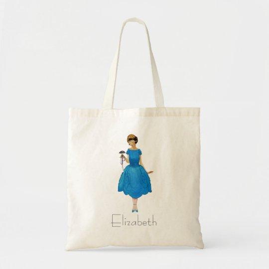Bridesmaid Tote Bags, pretty posy blue