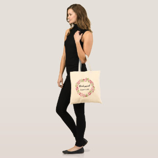 Bridesmaid Tote with Name and Date