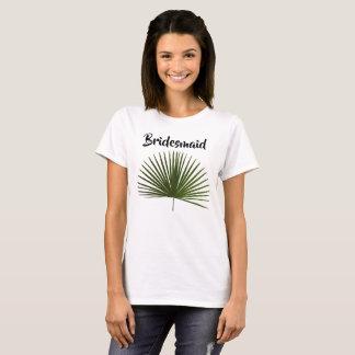 Bridesmaid  Tropical Palm Frond Leaf Wedding T-Shirt