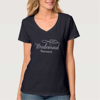 """Bridesmaid"" Typography T-Shirt"