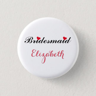 Bridesmaid Wedding Bachelorette Party Pin Button