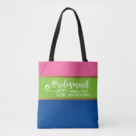 Bridesmaid Wedding Bag | Chic, Colourful, Stripe