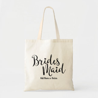 Bridesmaid Wedding Budget Canvas Tote Bag