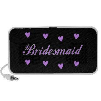 Bridesmaid Wedding Hearts Portable Speaker
