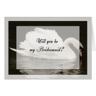 Bridesmaid wedding invitation card, Will you be my