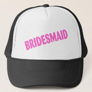 Bridesmaid Wedding Pink Trucker Hat