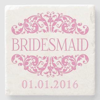 Bridesmaid wedding stone coasters Save the Date Stone Beverage Coaster