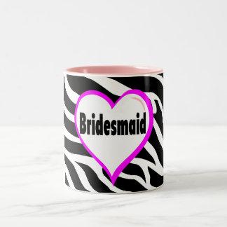 Bridesmaid Zebra Stripes Two-Tone Coffee Mug