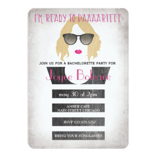 Bridesmaids bachelorette party invitation girls