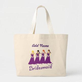 Bridesmaids in Purple Bag