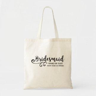 Bridesmaids Tote Bag | Chic Swirl Modern Script