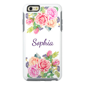 Bridesmaid's Vintage Floral Roses Modern Wedding OtterBox iPhone 6/6s Plus Case