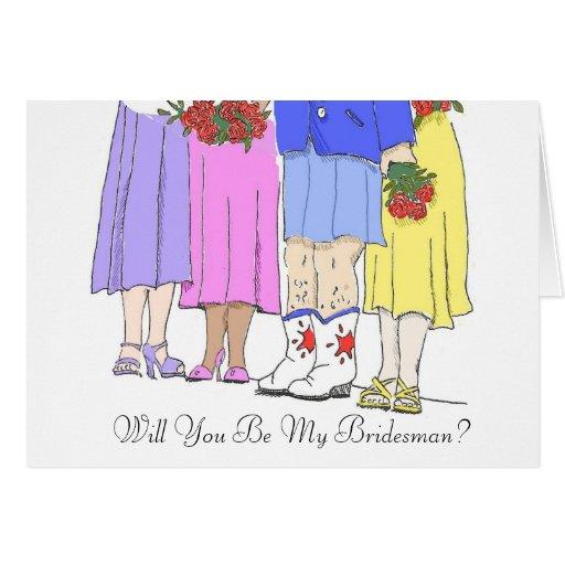 Bridesman, Will You Be My Bridesman? Cards