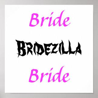 Bridezilla Bride Poster