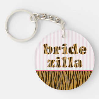 Bridezilla | Fun Quote Tigerprint Keychain