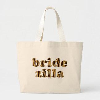 Bridezilla Fun Quote Tigerprint Tote