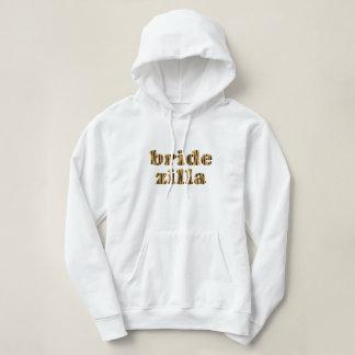 Bridezilla   Fun Tigerprint Hooded Sweatshirt