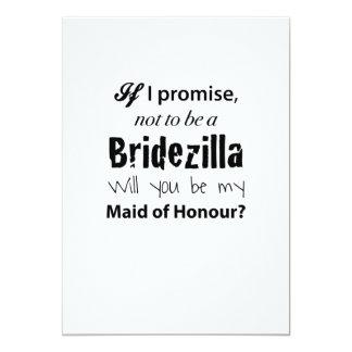 Bridezilla - Maid of Honour Invitation